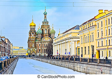 Church on Spilled Blood. Saint-Petersburg. Russia