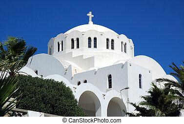 church on the greek islan