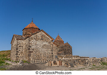 Church on top of a hill near Sevan lake