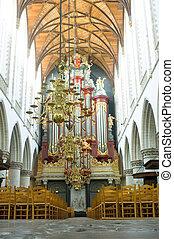 Church Organ interior