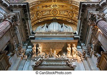 Church organ in  Chiesa di Sant'Agnese in Agone, Rome