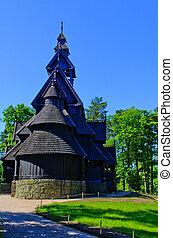 church oslo - An old log church at the folk museum in Oslo...