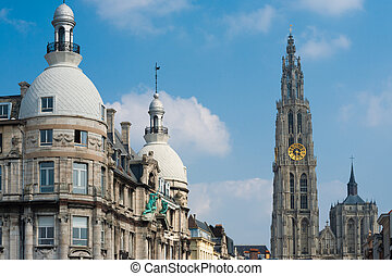 Church Our Lady Antwerp Buildings - The central Cathedral of...