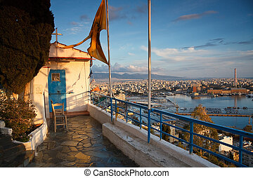 Church over the port in Piraeus, At