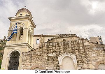 Church Pantanassa Monastery Byzantine Church Athens Greece -...