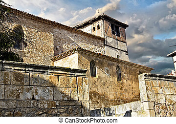 Church people in the province of Burgos Spain