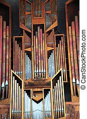 Church pipe organ.