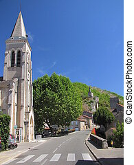 Church, road, Laroque