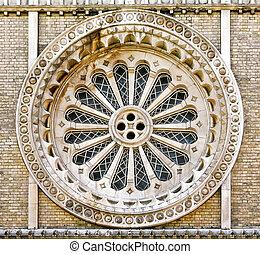Church round window