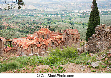 Church ruin at Greek Mystras