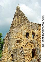 church ruins Battle Abbey england