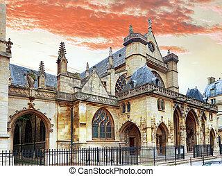 Church Saint-Germain-l'Auxerrois near the Louvre. Paris. ...