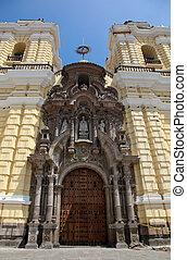 Church San Francisco in Lima in Peru