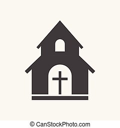 Church sanctuary vector illustration icon. Simple flat pictogram for business, marketing, mobile app, internet on white background.