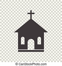 Church sanctuary vector illustration icon. Simple flat pictogram for business, marketing, mobile app, internet on isolated background