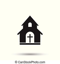 Church sanctuary vector illustration icon. Simple flat pictogram for business, marketing, mobile app, internet on white background