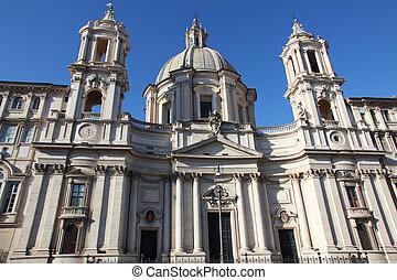 Church Sant Agnese in Agone Rome - the church Sant Agnese in...