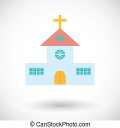 Church single flat icon.
