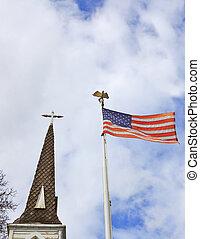 Church State Steeple Flag