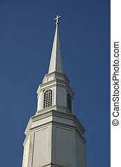 Church Steeple 4 - White Church Steeple