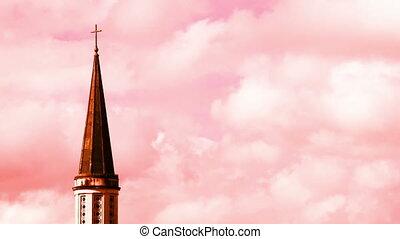 Church Steeple Color & Time Enhanced