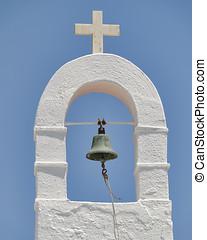 church steeple, Mykonos, Greece - church steeple, Mykonos...