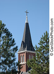 Church Steeple in Oklahoma City.