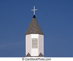 Church Steeple - Steeple part of old Methodist Church taken...