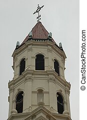 Church Steeple - Photographed at St. Augustine, Florida