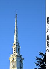 Church Steeple - church steeple against blue sky