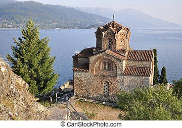 Well-known Sveti Jovan Kaneo - St. Jovan kaneo church, Ohrid, Macedonia
