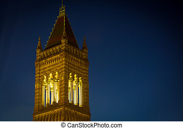 Church tower Copley square - Church tower in Copley square...