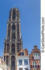 Church tower Domtoren in the historic center of Utrecht