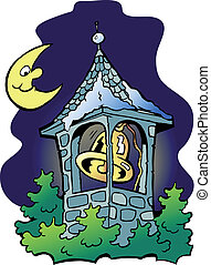Hand-drawn Vector illustration of an church tower