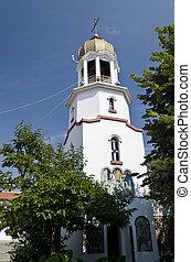 Church tower in Pomorie  in Bulgaria