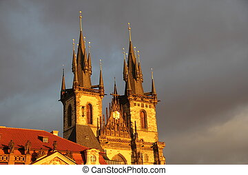 Church Tower in Prague