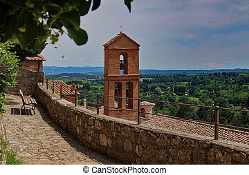 Church tower in Tuscany
