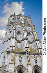 Church tower in Verneuil-sur-Avre. France