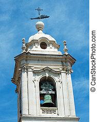 Church tower of Convento da graca in Lisbon