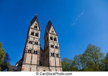 Church Towers, Koblenz, Germany.