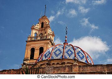 Church, Valencia - View of Church of Carcaixent, Valencia,...