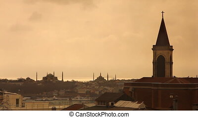 church view from istanbul historical peninsula