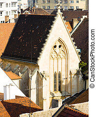 church - view from Michael's Tower, Bratislava, Slovakia