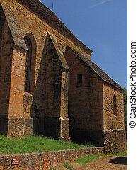 Church, village, Castelnau