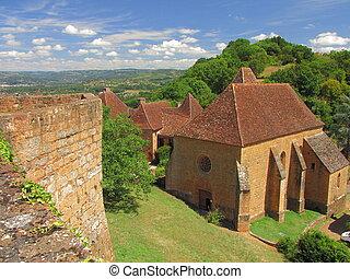 Church, village, Castelnaud