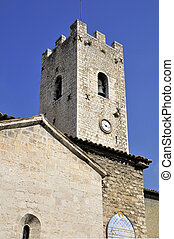 Church village of Vence in France