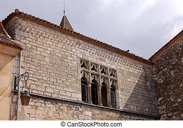 Church windows and wall