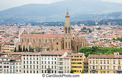 Church with Bell Tower in Florence