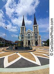 Church with blue sky