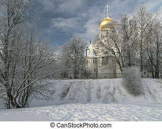 Church with golden cupola